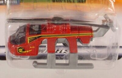 MATCHBOX  # 68 RED AIR LIFT HELICOPTER MB68-O2