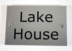 House-Number-Sign-Plaque-Brushed-Aluminium-With-Fixings