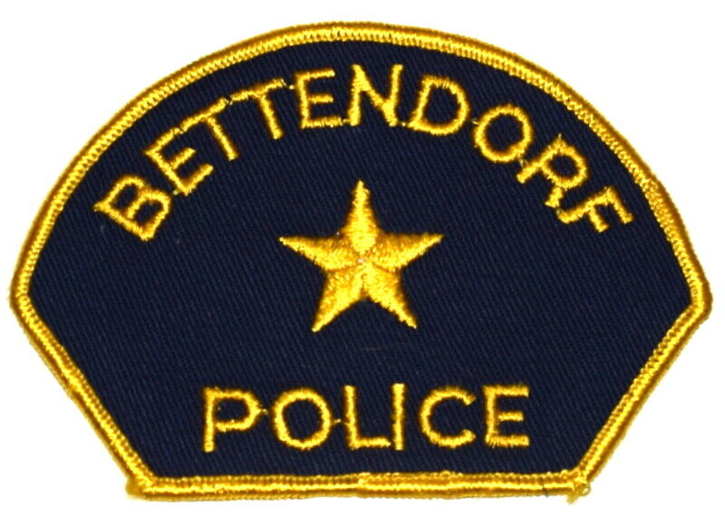 BETTENDORF IOWA IA Sheriff Police Patch VINTAGE OLD MESH ~