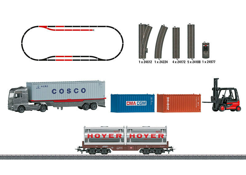 Märklin 78452 - Themen-ergänzungspackung Containerlogistik, Fahrzeuge 2