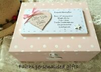 Baby/childs Personalised Birth/christening Gift Keepsake Memory Wooden Box - unbranded - ebay.co.uk