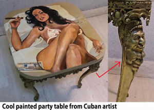 Cool painted party table