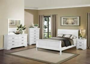 NEW ARRIVALS!!!!!! Mayville Queen BedFrame/Suite in White