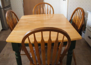 Dinette Table + 4 Wood Chairs