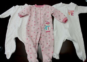 9 Months sleepers all long sleeved and in great shape!