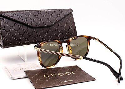 GUCCI 1130/S QWR1E Men's Sunglasses Light Havana & Gold Optyl Frame ~ NEW