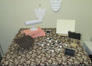 Craft Table with Display Accessories
