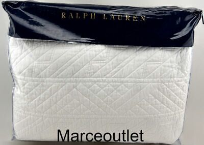 Ralph Lauren Home Oakfield FULL / QUEEN Quilted Coverlet White