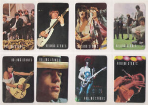 THE ROLLING STONES 8 Pocket Calendars Cards  Lot 1987 PORTUGAL