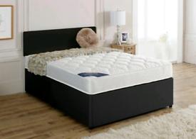 """Brand New 5""""ft (king size) divan bed & headboard(mattress optional)"""