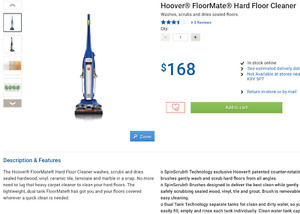 HOOVER FLOORMATE - ALL SEALED FLOORS - FH40150CA