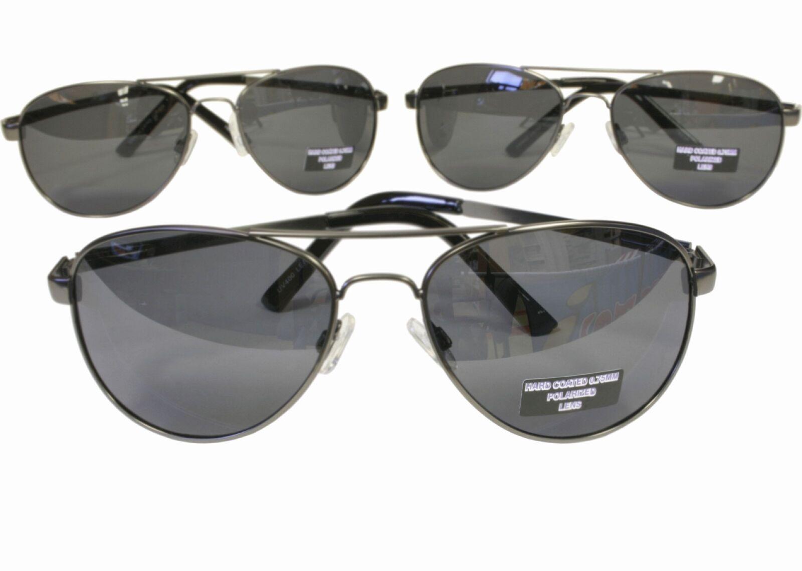 G&G 3pk 48mm Polarized Aviator Sunglasses Black Gray