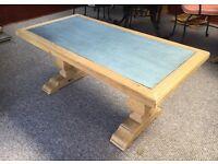 Coffee table, mango wood and metallic