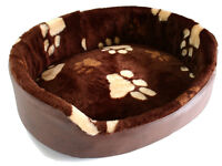 New Luxury Faux Fur Puppy Dog Cat sofa bed with cozy pillow