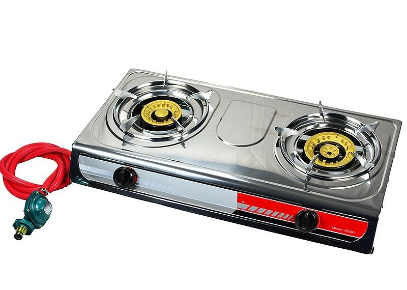 portable propane gas stove double 2 burner camping tail. Black Bedroom Furniture Sets. Home Design Ideas