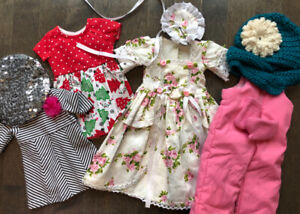 Lot of American girl doll clothes