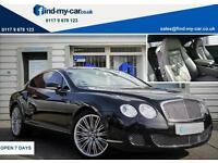 2009 09 Bentley Continental 6.0 W12 600 BHP Auto GT Speed Diamond Black