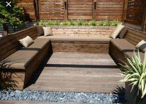 Modern cushions for outdoor benches