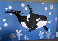 Killer Whale painting