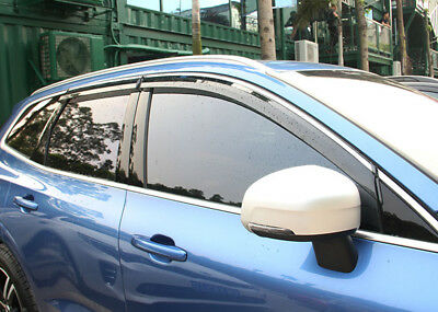 Window Visor Guard Deflector Rain Shield 4pcs for Volvo XC60 2018 2019, used for sale  Shipping to Canada
