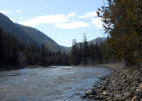 Placer gold claim on Similkameen river by Headley