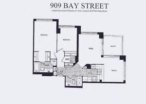 Bay Wellesley 2bedroom,2bath,Living+Dining 1000SF