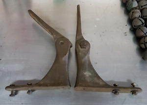 antique brass folding shelf brackets