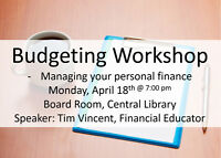 Free Personal Budgeting Seminar at the Central Library