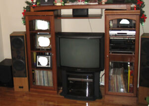 VERY NICE MEDIA CENTER ADJUSTABLE WIDTH GREAT CONDITION