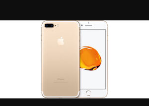 Brand new iPhone 7 PLUS 256 Gb gold locked to Fido
