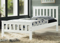 Single Bed - Hardwood - White - By Bunk Beds Canada
