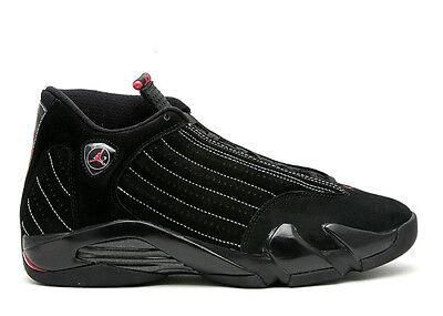 2008 DS Nike Air Jordan 14 XIV size 12. Black Red. Collezione 14/9. 318541-992.