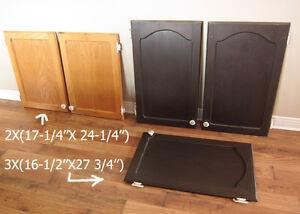 Portes d'armoires en chêne 7$ chaque aubaine ! outils
