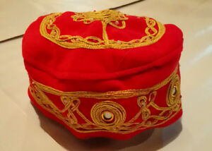 Festive Cap With Mirror & Beads in Various Colors.