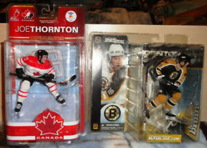 Joe Thornton McFarlane 2 Figurines
