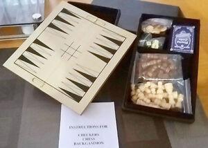 Coffret de jeux:  Échecs/Backgammon/Dames