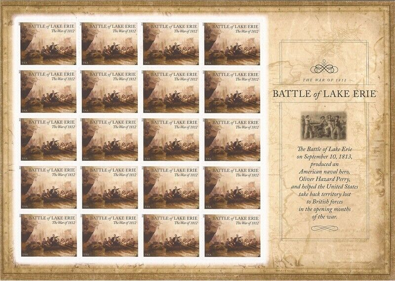 Us Stamp - 2013 Battle Of Lake Erie - Sheet Of 20 Forever Stamps #4805