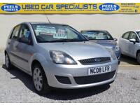 2008 (08) FORD FIESTA STYLE CLIMATE 1.25 SILVER * IDEAL FIRST CAR * LOW MILES *