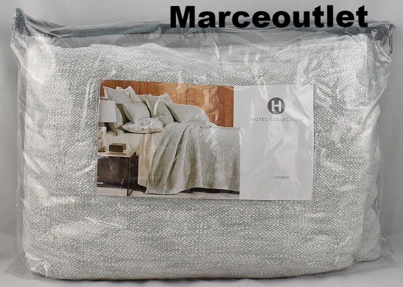 Hotel Collection Seaglass Cotton KING Coverlet  - $30.00
