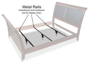 3x Metal bed slats/rails