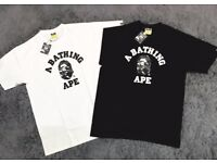 Black and White Bape Tee (2 for £30