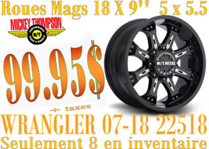 SPECIAL- Roues (mags) Mickey Thompson MM-164B 18X9 5-127 22518