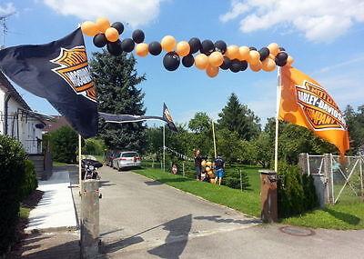 Sehr  große, Wetterfeste Harley Fahne /250x150cm / mit Befestigungsösen