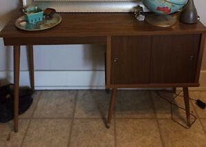 Mid-Century Table/Hutch/Desk