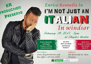 Enrico Rennella - an Italian Comedian Sunday Feb 19/17