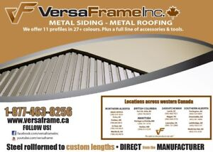 Metal Roofing & Siding - Manufacturing Locations across Alberta