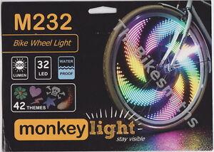 Monkey Light M232 LED Bike Wheel Spoke Color Light 48 Themes Flashing Safety