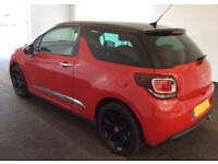 2013 RED CITROEN DS3 1.6 E-HDI AIRDREAM DSTYLE PLUS DIESEL CAR FINANCE FR £20 PW