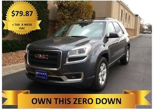 2013 GMC Acadia  ONLY $79.87 + TAX A WEEK - OAC