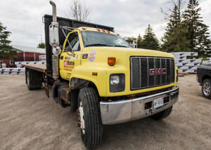 Flat Bed with Hoist For Sale